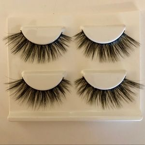 Other - 2 pair Mink eyelashes NWT w/ glue & applicator